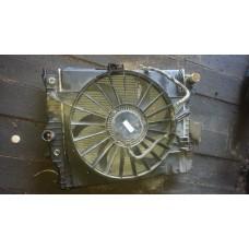 Кассета радиаторов двигатель и кондиционер вентилятор Jaguar XF б/у